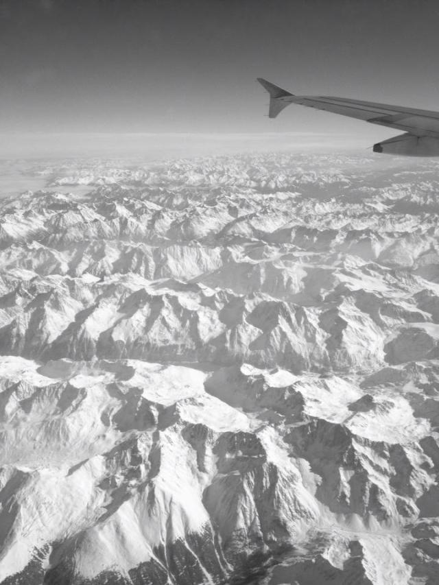 Flying in over the stunning Dolomites
