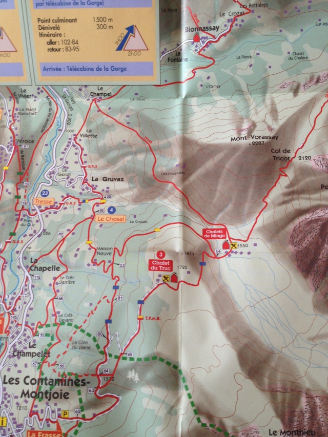 Map of the trails I managed to get on