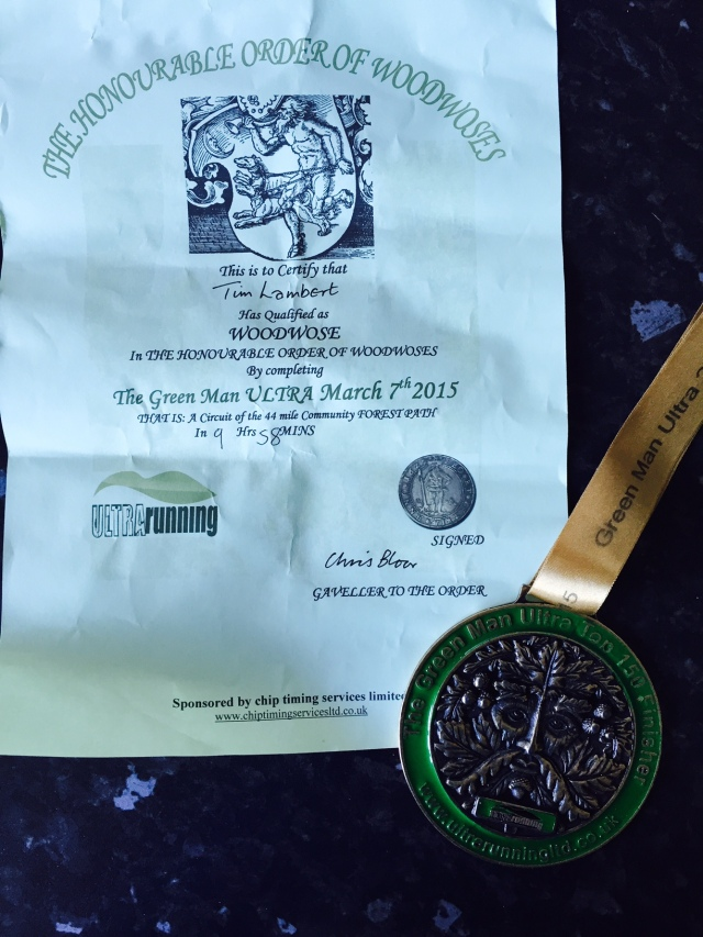 Certificate and that fantastic medal.